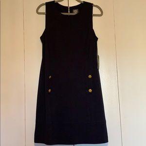 Vince Camuto navy blue shift dress